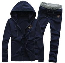 2015 Spring Autumn Casual Sportswear Sweatshirt Pants Sport Suit Men Clothes Tracksuits Male Hoodies Sweatpants Plus Size