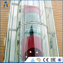 Nice Economical Outdoor Lift Elevator With Glass Sightseeing Wall