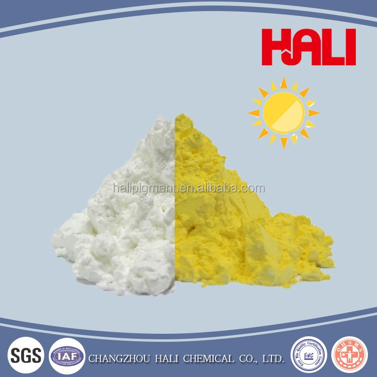 High frequency and low cost photochromic powder pigment,item:HLPC-05, white to yellow