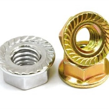 China Factory Colored-plating DIN6923 Hex Flange Nut