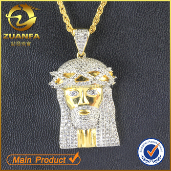 2016 new style 18k gold plated lab created diamond 925 sterling 2016 new style 18k gold plated lab created diamond 925 sterling silver jesus pendant aloadofball Image collections