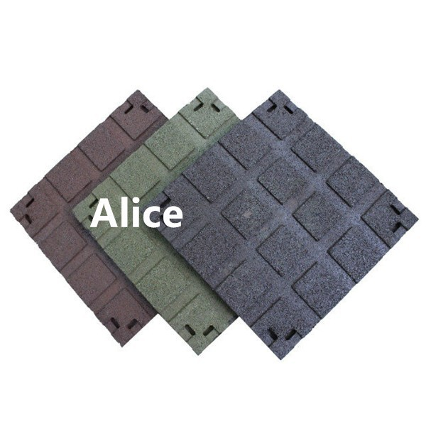 Recycle rubber tile/Outdoor safe rubber tile