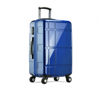 Abs Hard Case Luggage With Zipper Wheel Aluminium Trolley Systems