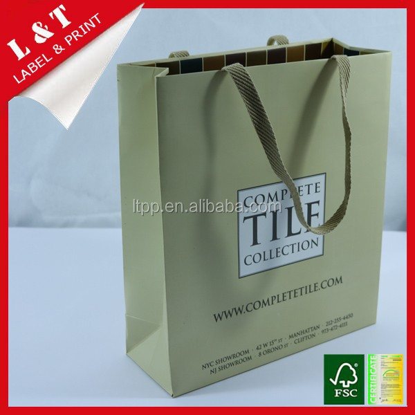 Strong brown paper packaging bags for collection