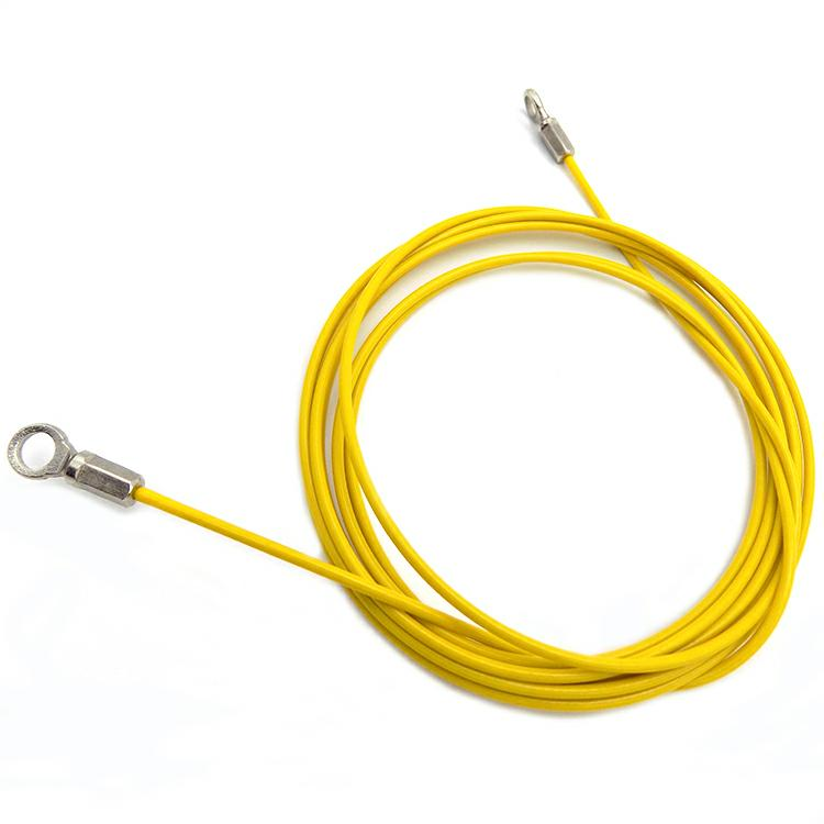 Colorful Pvc Coated Stainless Steel Wire Rope Sling With Ferrule Eye ...