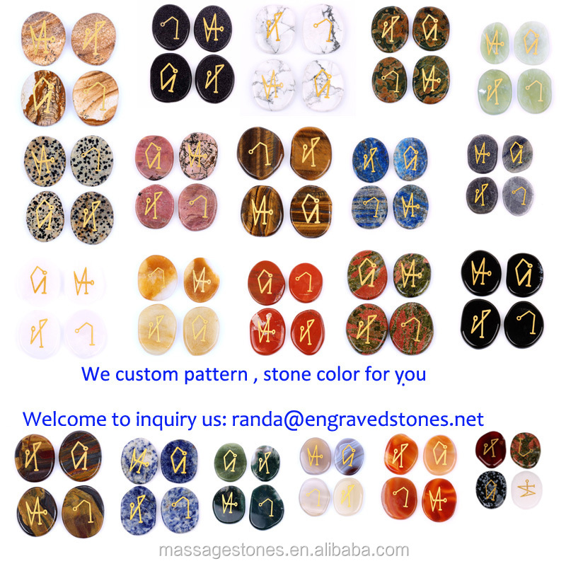 Assorted Gemstone Engraved With 4 Archangels Symbols - Buy  Archangel,Archangel Symbol,Gemstone Product on Alibaba com