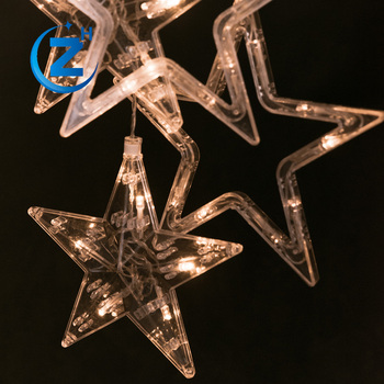 decorative waterproof led christmas light star shaped covers curtain christmas light house