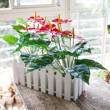 Hoogwaardige Groene Plant Real Touch Latex Bloemen Kunstmatige Rode <span class=keywords><strong>Anthurium</strong></span>
