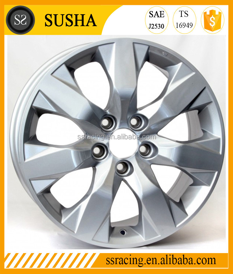 "SS Wheel Supply Hot sell 18""19""20""21"" Hyper black/Gun metal/Black/Sliver machine replica aluminum alloy wheels for Accord"