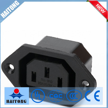 Black Waterproof Electrical 3 Phase Plug And Socket With 3 Pin Ac Socket on