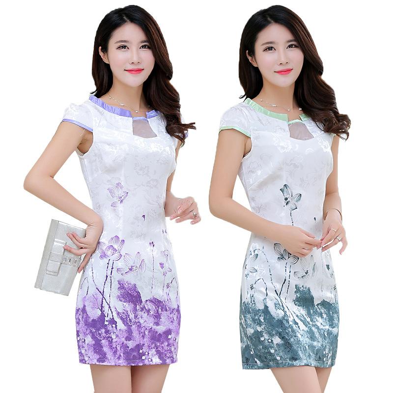 Buy Summer New Short Sleeved Digital Printing Xl China Dress