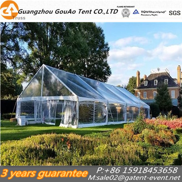100% waterproof transparent wedding party tent clear roof event tent