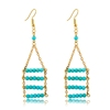 Hot Sell 4 Layered Turquoise Pendant Earring With Ear Wire