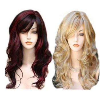 Fashion Beautiful Elegant Gorgeous Lady Women Blonde Long Curly Wigs ... d8b8483823