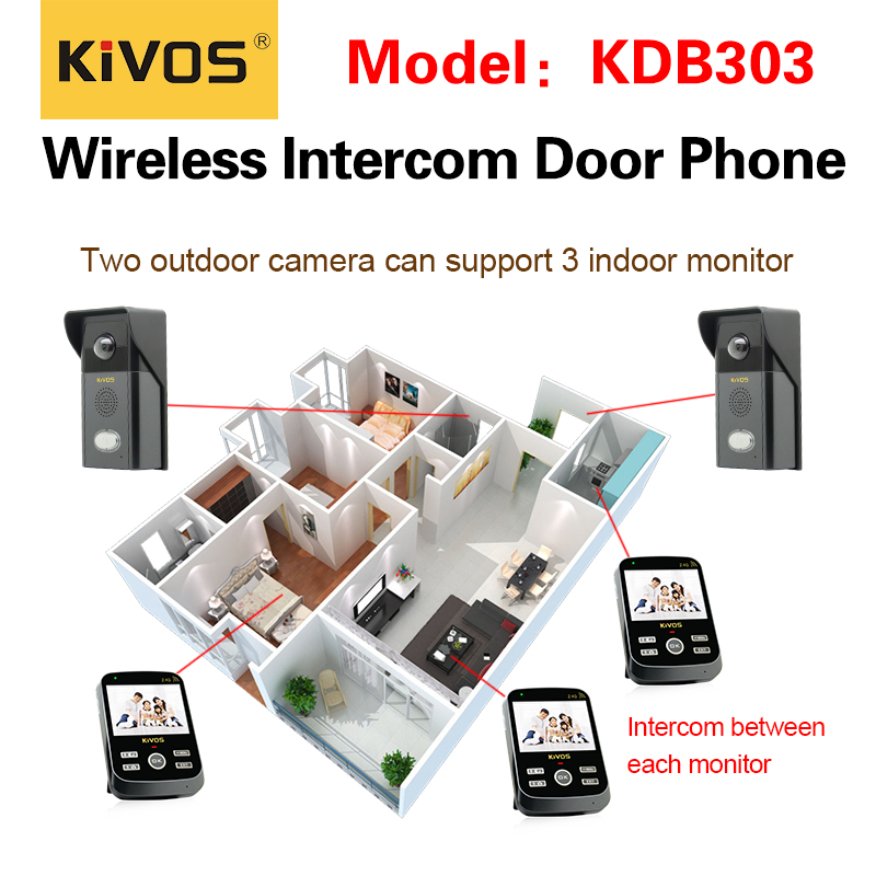 Gsm smart home security camera intercom doorbell wireless video door phone KDB303