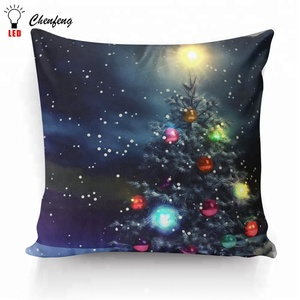 Color change flicking led christmas cushion wholesale factory price for holiday decorative dropshipping