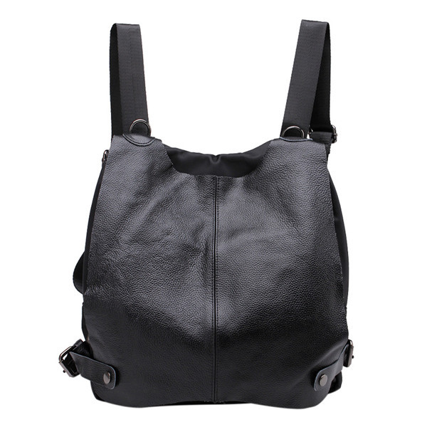 Get Quotations · 2015 New Famous Brand Designer Women Backpack Vintage  Genuine Leather+Cloth Bags Korean Cute School c79bcd72564ba