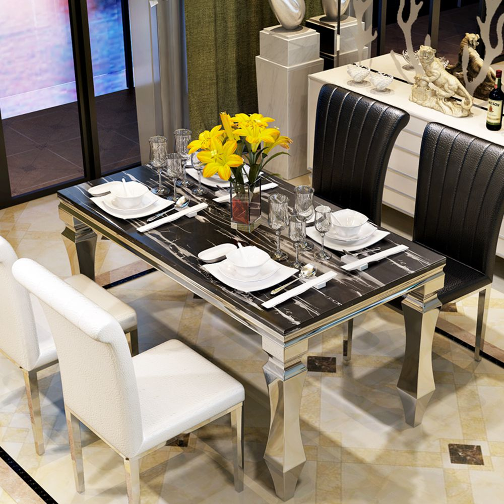 Steel dining table design - Stainless Steel Dining Table Designs Stainless Steel Dining Table Designs Suppliers And Manufacturers At Alibaba Com