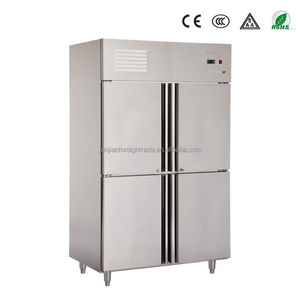 1020L CHEERING Big capacity 4 door commercial 50 50 refrigerator freezer with CE approval