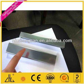 Wow aluminio brillante acero inoxidable perfiles de - Perfil acero inoxidable precio ...