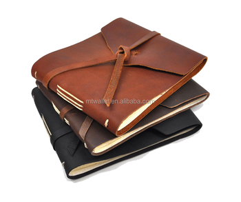 2016 new arrival soft bound hand crafted rustic leather note book