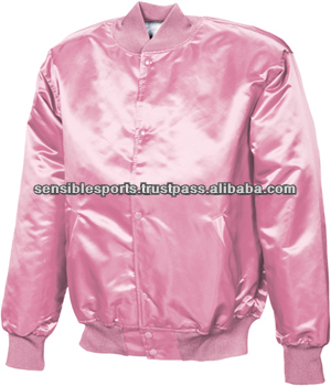 Pink Satin Varsity Jacket / Custom Satin Jacket - Buy Baseball ...
