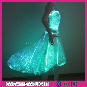 c21a19b0a88 Luminous Party Dress Light Up Illuminated Dance Dress - Buy Plus ...