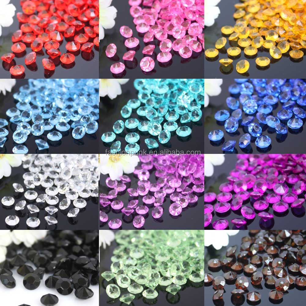 6.5mm Wedding Party Table Scatters Decoration Acrylic Crystals Diamond Confetti Jewelry <strong>Accessories</strong>
