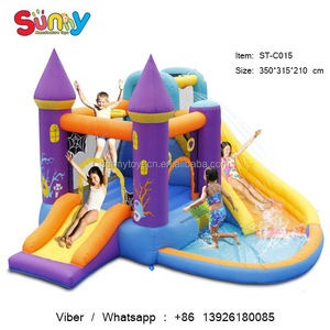 Inflatable pools for children hot selling outdoor big inflatable water slip and slide