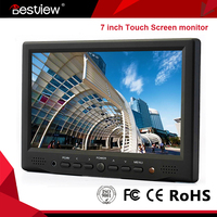 Reverse RearView car 7 inches tft lcd color mini lcd monitor with VGA AV HDMI input