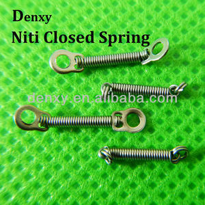 Orthodontic Dental Niti Closed Coil Springs with eyelets