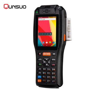 Android 6.0 touch screen rugged pda handheld gsm wireless pos terminal with printer