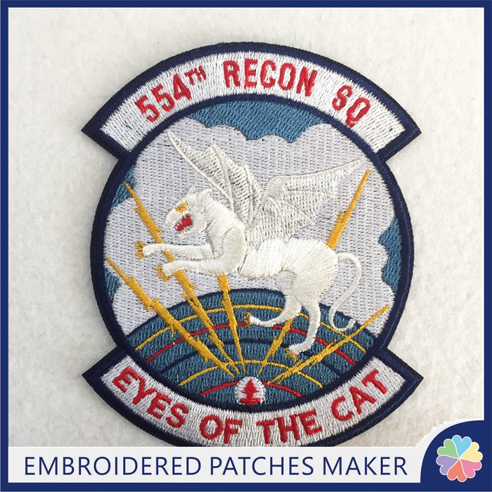 Wholesale Order Custom Patches Embroidery 554TH Patches Iron on backing for