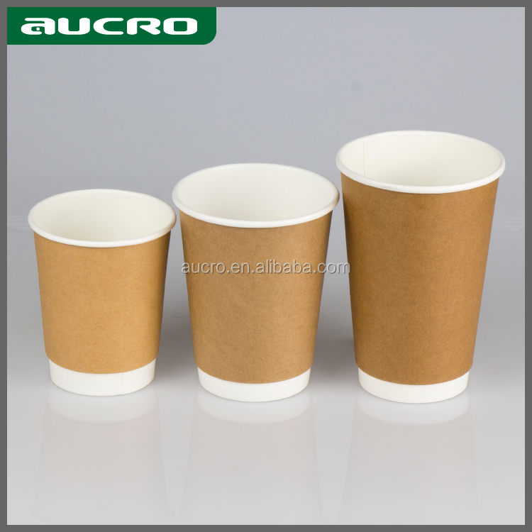 High Quality 6oz 8oz 12oz 18oz Disposable Brown Kraft Paper Cup Of Coffee