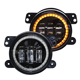Halo Ring OSRAM led chips 30W 4 inch fog light RGB led fog lamp with bracket for Jeep Wrangler