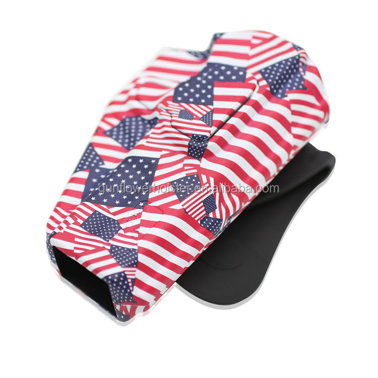OWB American Flag Printing Paddle Polymer/Plastic Holster for Glock 19/23/32