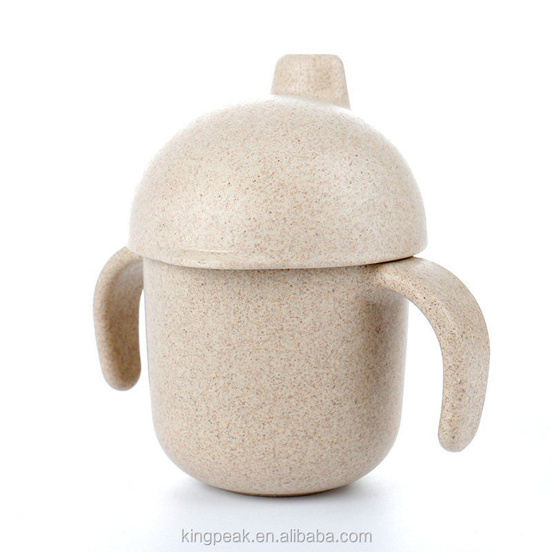 2019 New Product the Most Eco-Friendly Toddler Cup/Eco-friendly Natural Rice Husk Fiber baby sippy cups/Baby Training cups