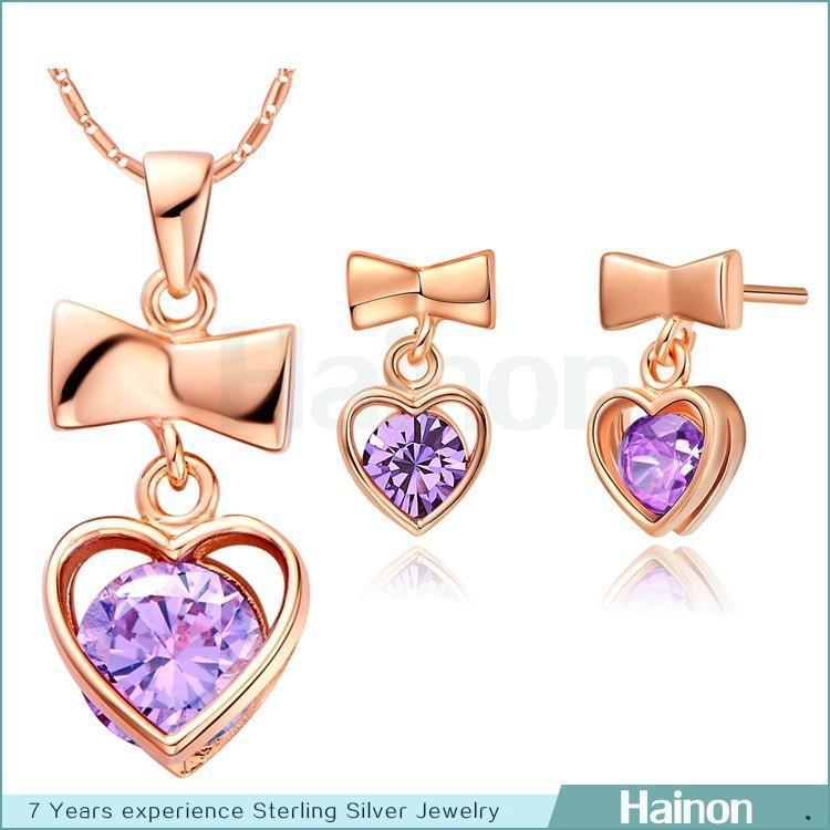 Dubai Heart Gold Plated Jewelry <strong>Set</strong> with Wholesale Price