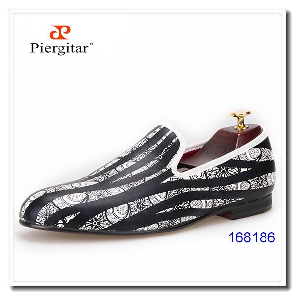 Shoes PU Soft Men Leather Striped Flat gwXqR0