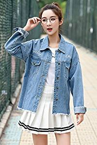 75fc9d2da6bd2 Get Quotations · Generic Denim jacket female loose 2018 Hitz Korean  students charming style jacket embroidered jacket for women