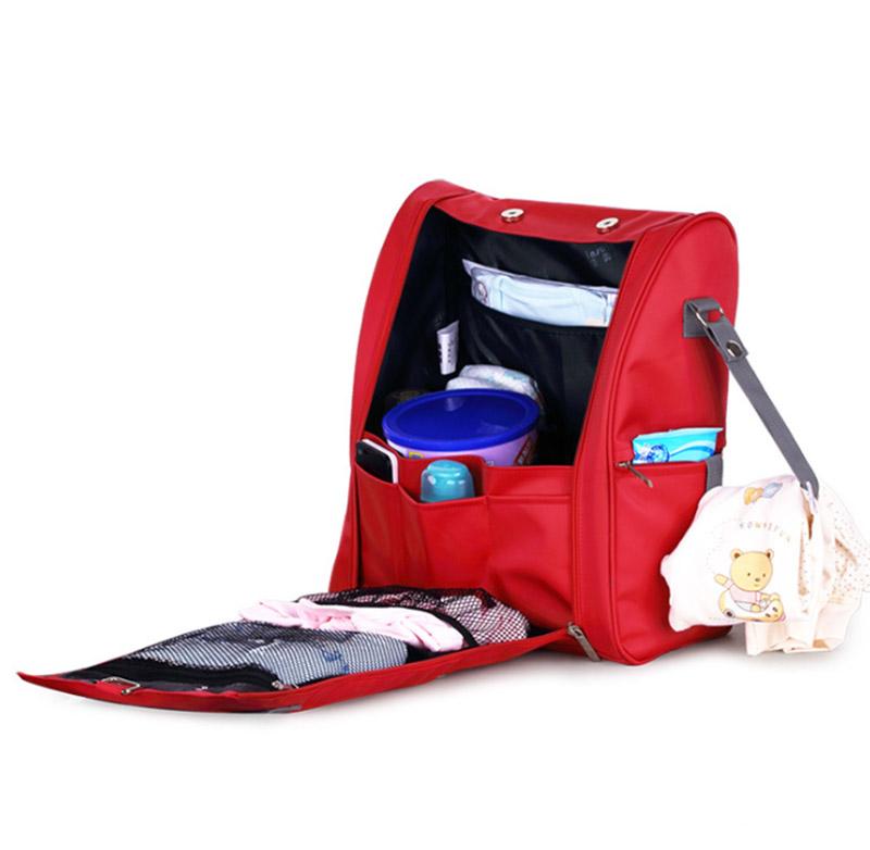 2019 ผลิตภัณฑ์กระเป๋าเป้สะพายหลังผ้าอ้อมเด็ก Travel ผ้าอ้อมกระเป๋าพ่อ, สีแดง