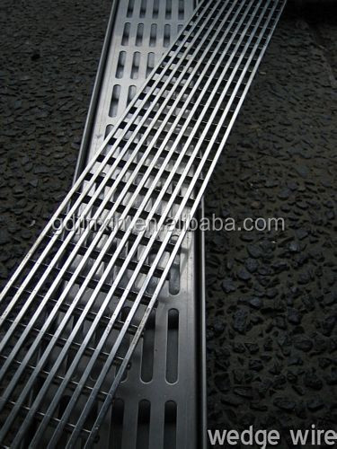 Stainless steel outdoor trench drain grates,wedge wire grate trech drain
