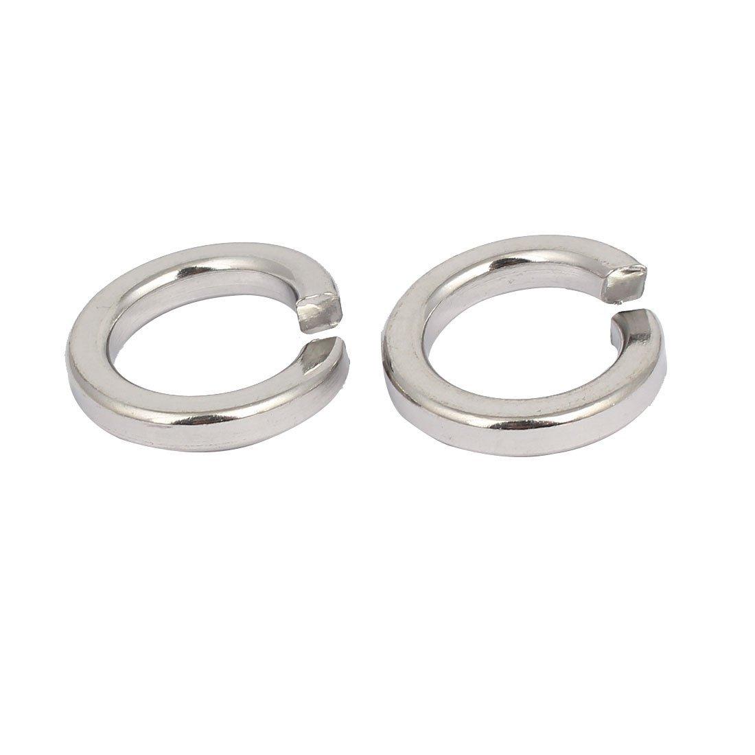 uxcell M20 Inner Diameter 316 Stainless Steel Split Lock Spring Washers Gasket 2pcs