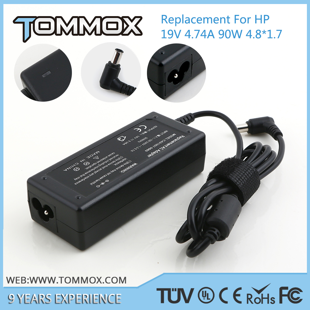 Hot Selling 90W 4.8*1.7mm laptop ac adapter 394224-001 for HP V9000 For Business Notebooks NC4000 NC4010 NC4200