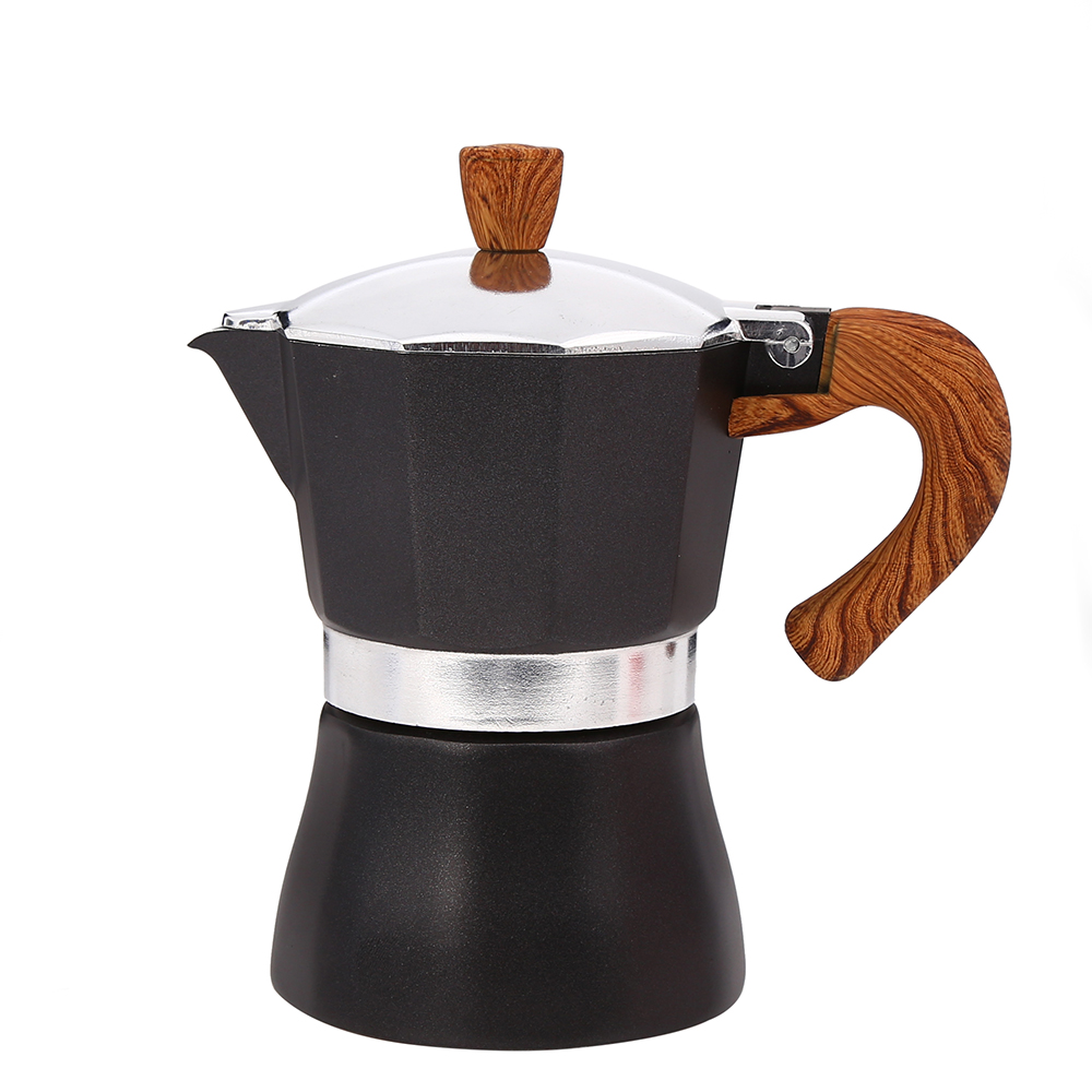 wooden handle Moka Espresso Coffee Maker