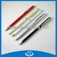 2014 hot selling free sample cute slim pen