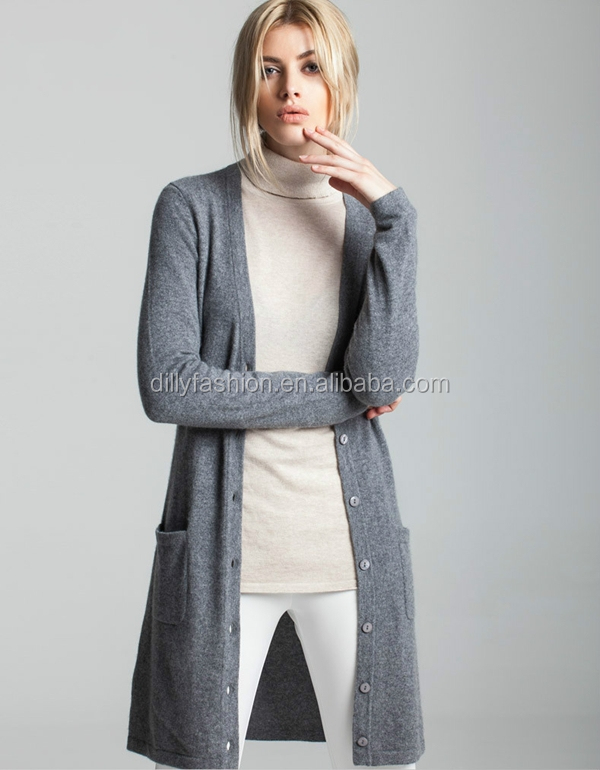 Knitting Pattern For A Long Cardigan : Knitting Pattern Womens Basic Slim Long Cardigans - Buy ...