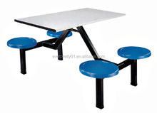 Canteen Furniture foshan factory Used school canteen furniture 4 seats table and chair for sale