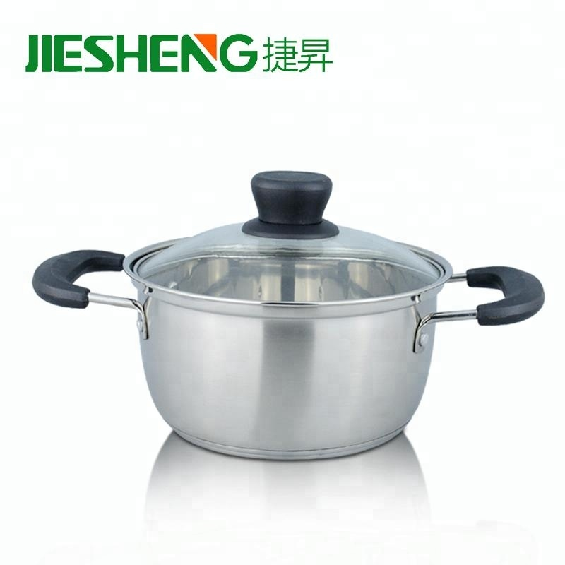 High quality large food cookware stew pot stainless steel cooking pot