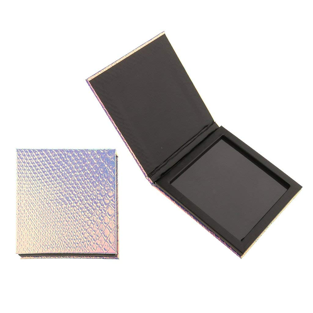 Dovewill 2 Pieces Empty Magnetic Palette Box DIY For Eyeshadow Powder Makeup Small